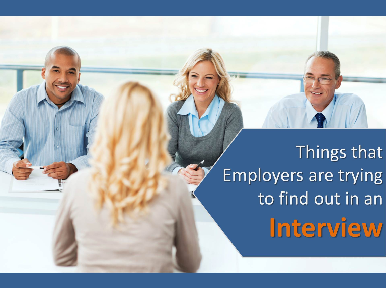 things every employers figure out in an interview